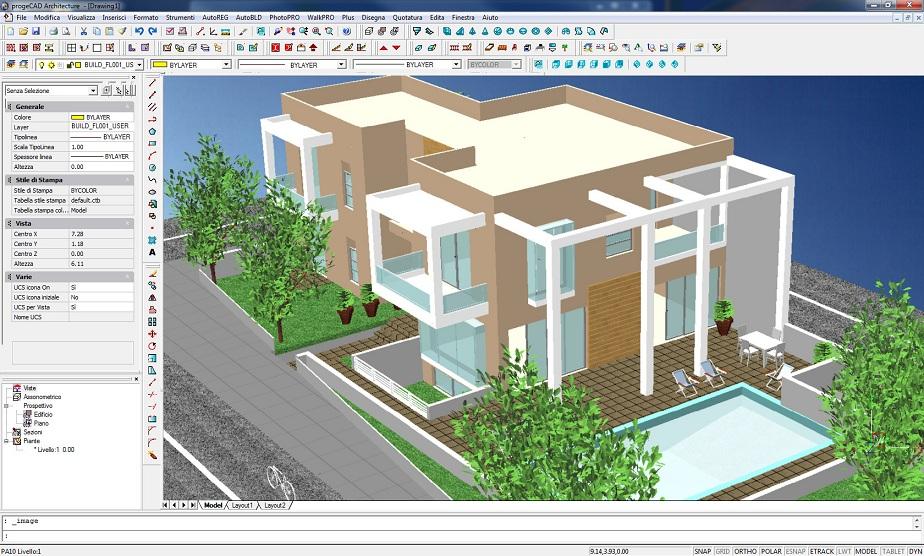 Dettagli progecad architecture gieffe soluzioni software for Porte 3d dwg