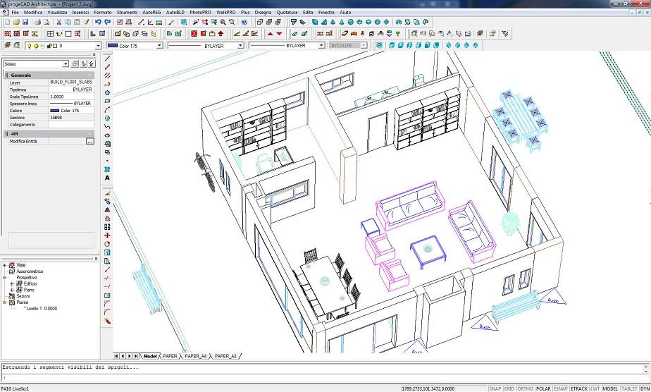 Dettagli progecad architecture gieffe soluzioni software - Finestre scorrevoli pianta ...